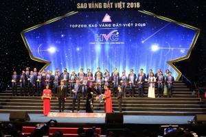 HVC Group được vinh danh tại giải thưởng Sao Vàng Đất Việt 2018