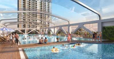 Bể bơi 4 mùa đại dự án Vinhomes Ocean Park
